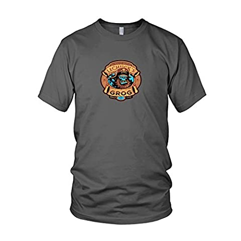 LeChuck's Grog - Herren T-Shirt, Größe: XL, Farbe: grau