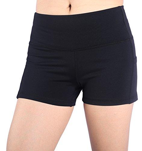 Munvot Shorts Femme Yoga Sport Shorty Noir Pantalon...