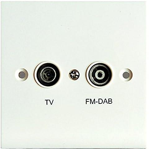 Mast Digital Proception Duplexeur DAB TV-m/F et coaxiale Non isolée avec plaque murale
