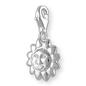 Melina Damen-Charm Anhänger Sonne 925 Sterling Silber 1800099
