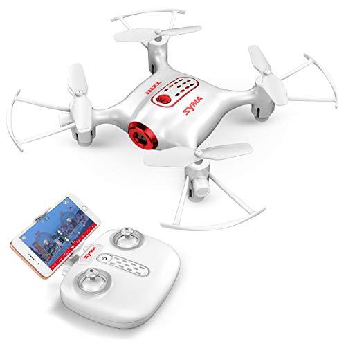 FPV Mini Drohne Syma X21W 2.4 GHz mit 6 Achsen Gyroskop RC Quadcopter 3D Flip EIN Schlüssel Start / Landung, Headless Modus Pocket Drone für Anfänger Kinder-Weiß