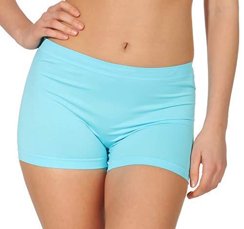 simaranda 6er Pack Damen Slips Seamless Unterwäsche Panty Boxershorts Unterhose Microfaser 20 (XL/XXL, Farbig) - 3