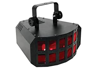 JEU DE LUMIERE DOUBLE DERBY A LED 2 CANAUX DMX DISCO