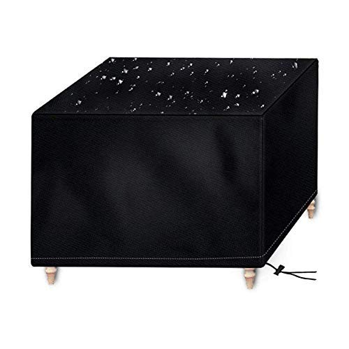 Osarke Abdeckung für Gartenmöbel Wasserdichtes Schutzhülle für Garten Tisch und Stühle Schutzhülle Sitzgruppe Abdeckhaube Oxford Schwarz 250 x 250 x 90cm -