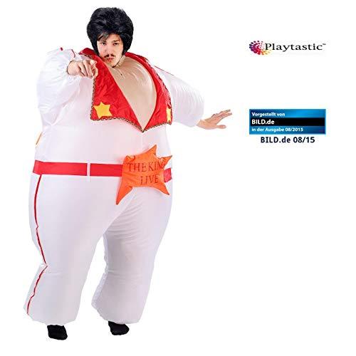 Playtastic Aufblas-Kostüm: Selbstaufblasendes Kostüm The King -