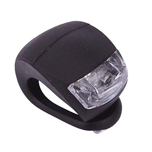 Mortimer Lamb LED Fahrradlicht, 3 Moduseinstellung,Included 2 pcs AG10 Batterien,Gut für Kinder und Erwachsene,Sport Fahrradbeleuchtung für Mountainbike,Schwarz