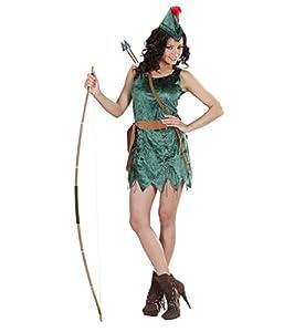 WIDMAN Señoras Robin de Sherwood Traje de la Muchacha Pequeño Reino Unido 8-10 de Robin Hood del Vestido