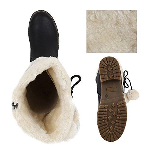 Senhoras Alinhadas Botas De Inverno Botas De Pele Quentes Arte Confortável Preto Marrom