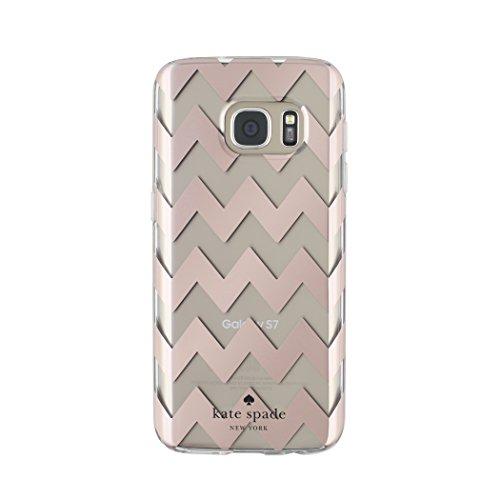 Kate Spade New York Schutzhülle für Samsung Galaxy S7 (stoßdämpfend), Chevron Roségold/Cremefarben
