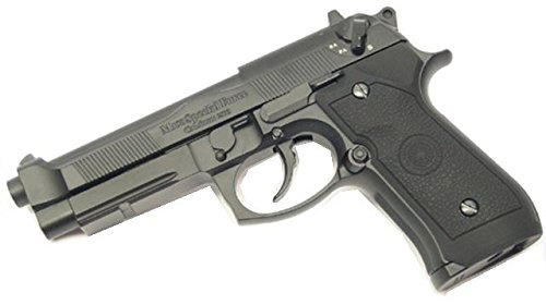 HFC HCA199 Softair Gas Pistole Vollmetall, Stil M190, max 0.5 Joules, GRATIS 2000 BULLDOG BBS 0.20G+GRATIS PISTOLEN - Semi Auto Air-pistole