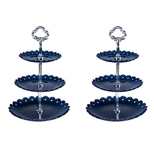 Kuchen Ständer, CHshe 2pcs 3-Tier Rund Cupcake Ständer Kuchen Nachtisch Snack Display Platte for Hochzeitsereignis Partei, 14.5 x 18 x 22 cm (Wein-schuh-halterung)