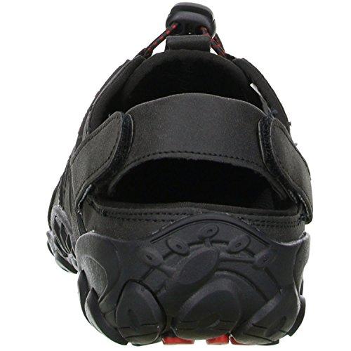 ConWay Damen Herren Trekkingsandalen Outdoorschuhe schwarz/rot Schwarz