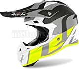 AIROH TOVS31 CASCO MOTO CROSS GIALLO MATTO TERMINATOR OPEN VISION SHOOT TG.L