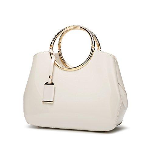 Tisdaini Damen Handtasche Mode Lackleder umhängetasche Crossbody PU Leder Taschen