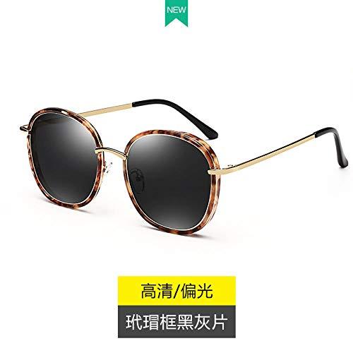 HGF Korea Retro Persönlichkeit Sonnenbrille weibliche Flut 2017 rundes Gesicht großes Gesicht große Kiste Stern Modelle Sonnenbrille Mode Avantgarde-Brille