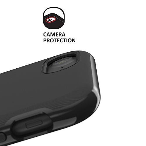 CREED iPhone 7 Nimbus TWIN GLASS EDITION aus deutschem Xensation Premium Glas by SCHOTT AG (inkl. Panzer-Glas)Schutzhülle für iPhone 7 Hülle - Schutzhuelle, iPhone 7, iPhone 7 Case - Dual-Layer Schutz Jet Black