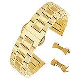 16 millimetri anti-allergia cinturino in acciaio inox in braccialetto orologio d'oro solido legame metallo con chiusura di distribuzione