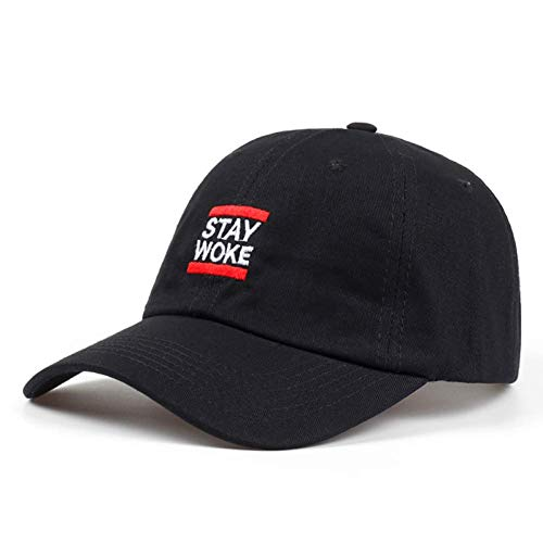 ZBCOO Marke Stay Woke Run Schriftschnitt Twill Baumwolle Low Profile Dad Cap Hut Mode Männer Frauen Golf Baseball Cap Knochen Low-profile Twill Hut
