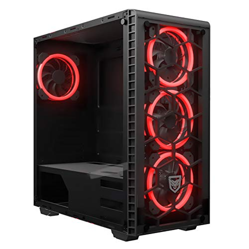 Nfortec Draco RGB - Torre Gaming (Cristal Templado) Color Negro