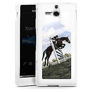 Sony Xperia U ST25i Case Coque Housse Silicone Case white - Horse Jump