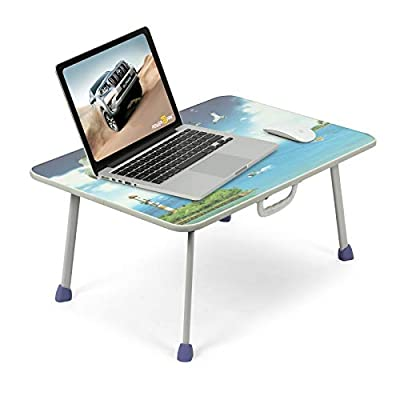 Powerpak Multi Purpose Foldable Portable Wooden Bed Table Study