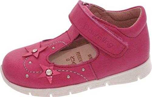 Däumling Chaussures pour enfants, bébé chaussures, cuir, chaussures de course lernschuhe Rose - pink (Fortuna ciclamino)