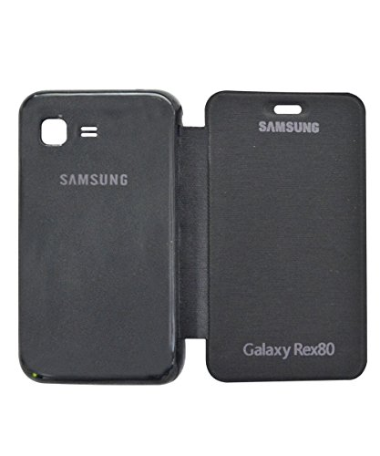 COVERNEW Flip Cover for Samsung Rex 80 S5222R - Black  available at amazon for Rs.299