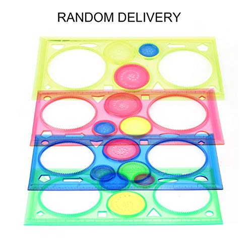 Objective Painting Multi-function Puzzle Spirograph Geometric Ruler Drafting Tools For Students Drawing Toys Children Learning Art Tool Good Companions For Children As Well As Adults Drafting Supplies Rulers