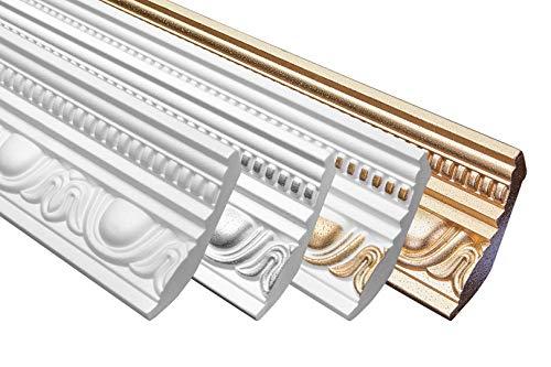 Sparpaket Stuckleiste Eckprofil Styropor Innendekoration 70x90mm B-24, Inhalt:30 Meter / 15 Leisten