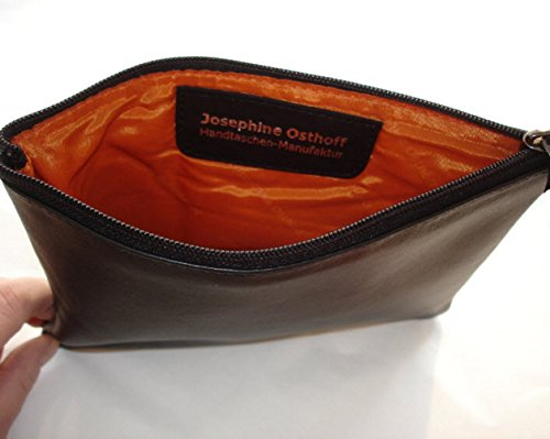 JOSYBAG LEDER Banktasche 'bankbag' - schwarz - Geldbörse Geldkatze Autotasche Schwarz