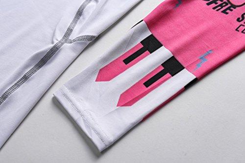 Cody Lundin À manches longues t-shirt serré blanc t-shirt femmes minces sous-vêtements de t-shirt white-a