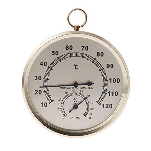 Qiman Luftbefeuchter Thermometer Für Sauna Raumfeuchtigkeit Temperaturmesser Indoor Hygrometer Doppel-zifferblatt Wand Hängen Metall Messung