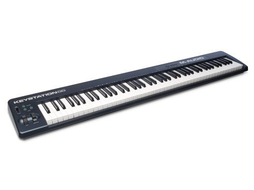 M-Audio Keystation 88 II - USB MIDI Tastatur Keyboard Controller mit 88 anschlagdynamischer Synth Action Tasten  inklusive SONiVOX (EightyEight Ensemble) Software für Mac und PC (88-tasten E-piano)