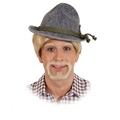 Ötzi Kunstbart blond Bayrischer Herrenbart Trachten Männerbart Oktoberfest Echthaarbart Herren Echthaar Faschingsbart Karnevalskostüme Accessoires Herren (Oktoberfest Herren Trachten)