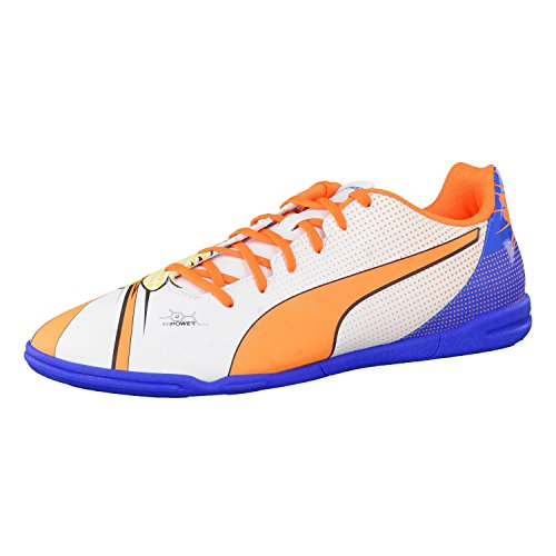 PumaevoPOWER 4.2 POP IT - Calcio scarpe da allenamento, uomo white-orange clown fish-electric blue lemonade 01