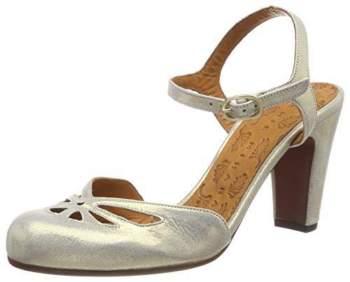 Chie Mihara Queral34, Scarpe col Tacco con Cinturino Dietro la Caviglia Donna, Oro (Cyprus Gold), 39 EU