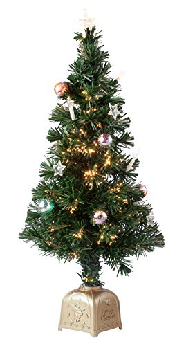 Northwoods Greenery Glasfaser-Weihnachtsbaum, drehbar, Einheitsgröße, Grün