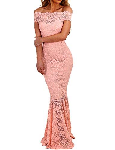 7aa05a1ca3d0e6 emmarcon elegante abito cerimonia da donna in pizzo stile a sirena vestito  lungo damigella festa