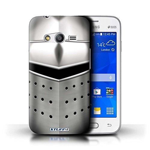 Stuff4® Custodia/Cover Rigide/Prottetiva Stampata con Il Disegno Cavaliere Armatura per Samsung Galaxy Trend 2 Lite/G318 - Pigface Casco