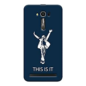 ColourCrust Asus Zenfone 2 Laser ZE550KL / Zenfone 5.5 Mobile Phone Back Cover With This is it Michael Jackson - Durable Matte Finish Hard Plastic Slim Case