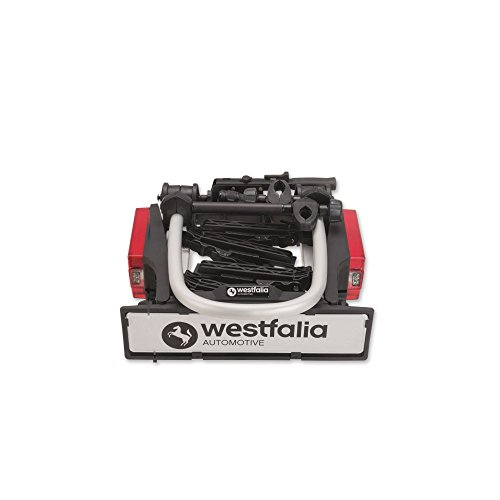 Westfalia Cycle Carrier Bikelander for towbar mounting | Foldable towbar mounted Bike Carrier for 2 bikes | Suitable for eBikes | Max load 60kg |Universal