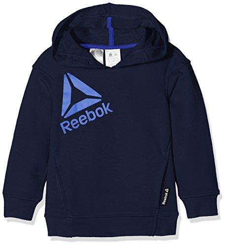 Reebok BS1447–Sweatshirt mit Kapuze für Kinder S blau (Collegiate Navy/Vital Blue) (Collegiate Kapuzen-pullover)