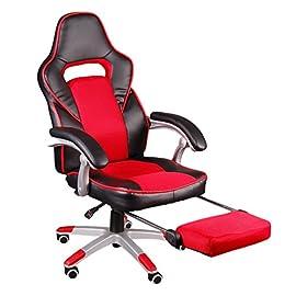 Sedia Scrivania Gaming Chair Larga Sedia ergonomica da Alta Bianco//Nero Poltrona Ufficio Similpelle,Altezza Regolabile Giosedio GSA Sedia Gaming Girevole Sedi di Gioco