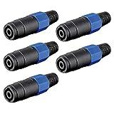 5 Stück 4-polige PA-Lautsprecherkupplung zum Schrauben mit Knickschutz