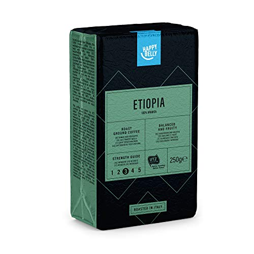 "Marca Amazon - Happy Belly Café molido ""ETIOPIA"" (4 x 250g)"