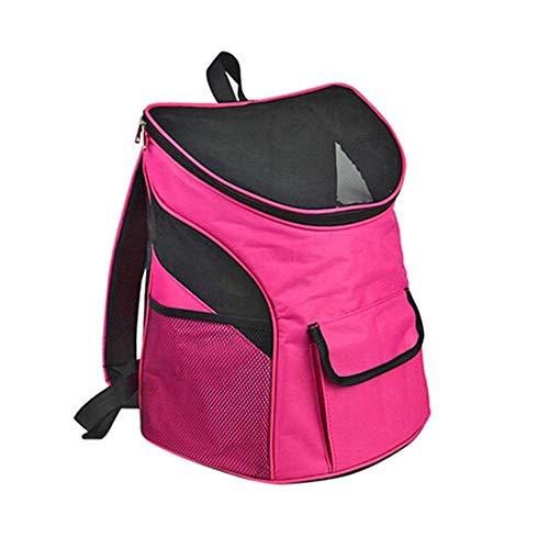 ZOUQILAI Pet Travel Carrier Rucksack für kleine Hunde und Katzen bis 15 kg, 2 große Belüftungsfenster, Sicherheitsmerkmale und Rückenkissenunterstützung (Size : 30X24X33CM) (36 X 24 Hundebox)