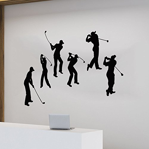 BB.er Autocollant Mural Chambre à Coucher Salle de séjour Sportif Golf imperméable Amovible...