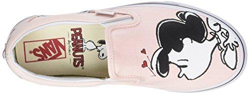 Vans Damen Peanuts Classic Slip-On Laufschuhe Pink (Smack/pearl Peanuts)
