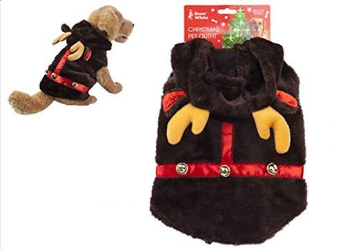 Disney Traje de Mascota de Renos de Peluche Toyland® - Vestir Mascotas - Trajes de Navidad para Gatos y Perros