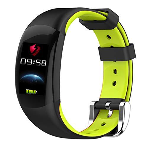 CCYOO Smart Armband Farbe LCD Fitness Armband Pulsmesser Fitness Armband IP68 Wasserdicht Schrittzähler Smart Band,Green